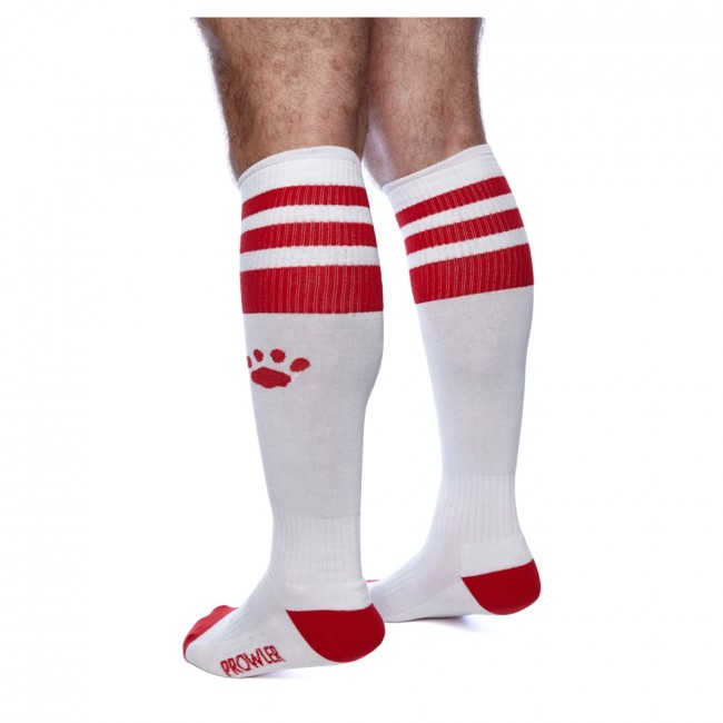 Prowler RED Football Sock White/Red OS