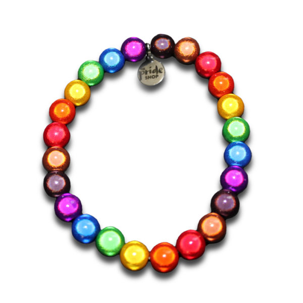 Black and Brown stripe LGBT rainbow bracelet