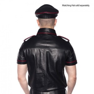Prowler RED Police Shirt Piped Black/Red