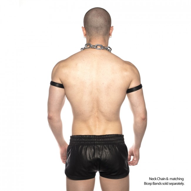 Prowler RED Leather Sports Shorts Black