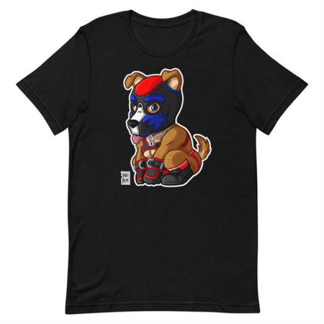 PLAYFUL PUPPY RED T-SHIRT