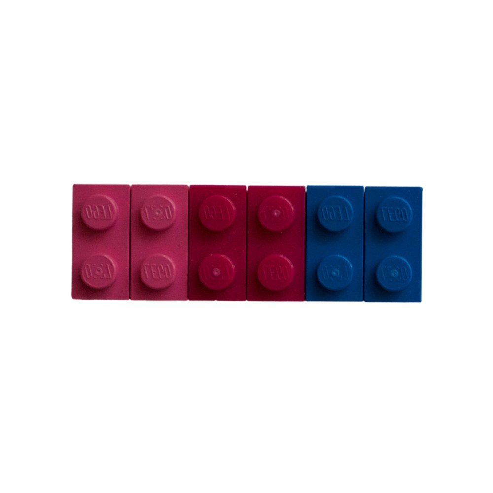Bisexual Lego Brick Fridge Magnet