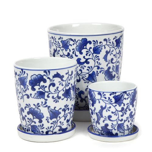 Floral Blue and White Porcelain with saucer