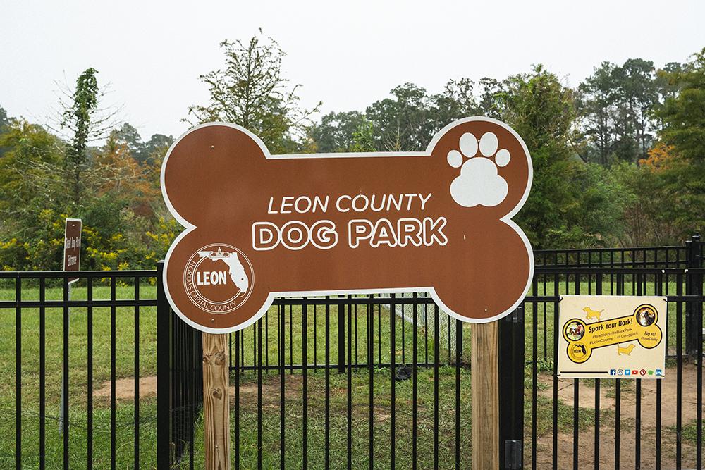 Bark Park dog park sign