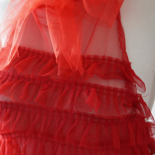 Red Tulle Top