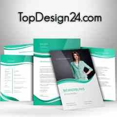 Bewerbungsvorlage - Green-Light - TopDesign24