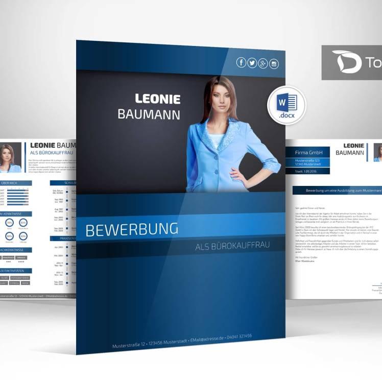bewerbung design word