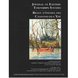 Journal of Eastern Townships Studies Edition 38