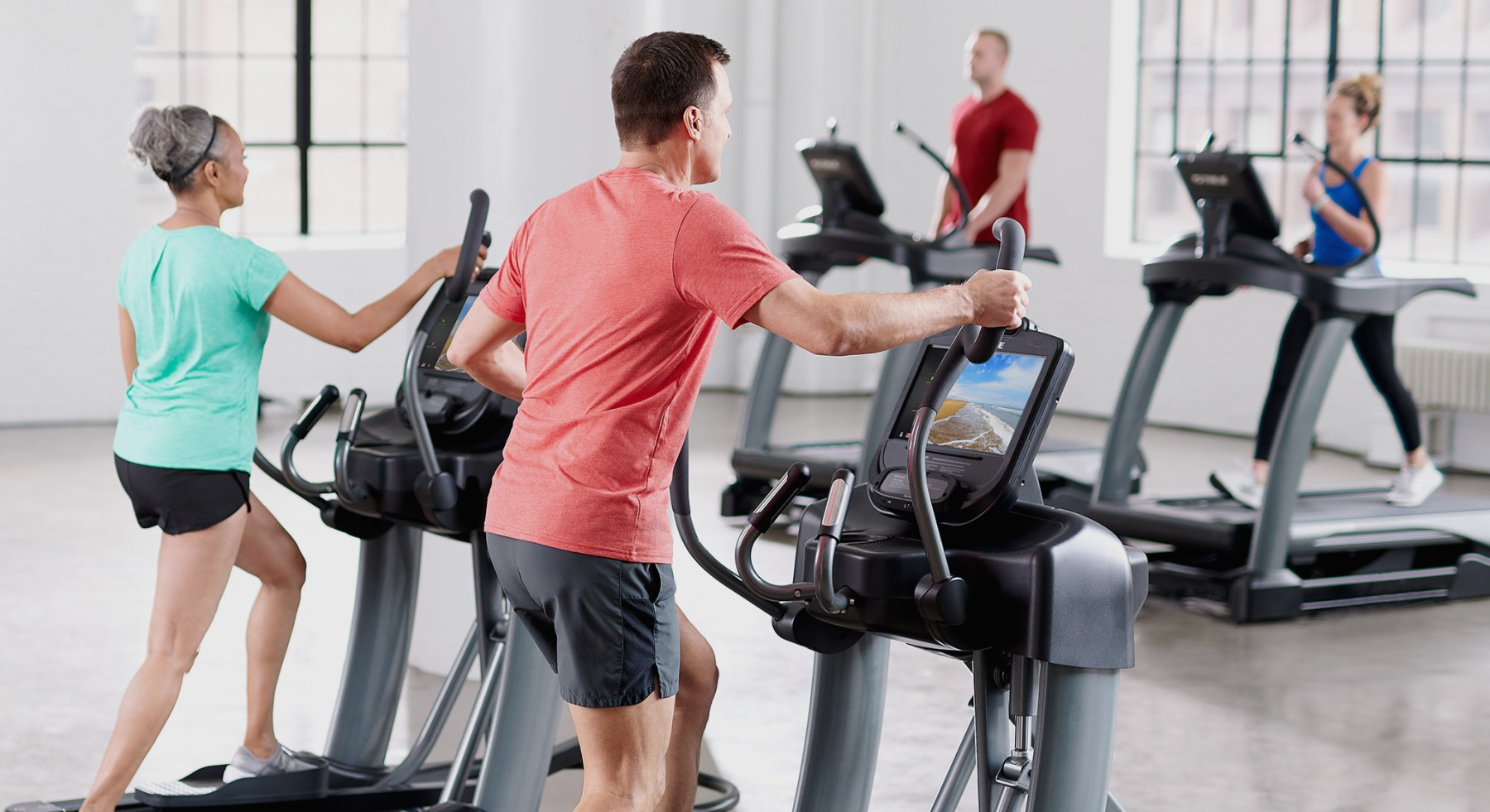 Our History. The TRUE Fitness History. Exercising on our machines.