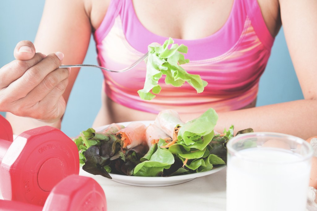 Maintain a good diet to reach your fitness goals.
