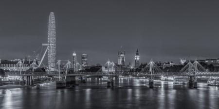 Londen by Night foto - Londen Eye, Big Ben en Palace of Westminster   Tux Photography
