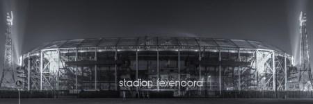 Feyenoord Rotterdam Stadion de Kuip in zwart-wit - 1