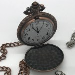 Watch Pocket W Chain Antique Gold Metal W Chain Tvrm Gift Shop