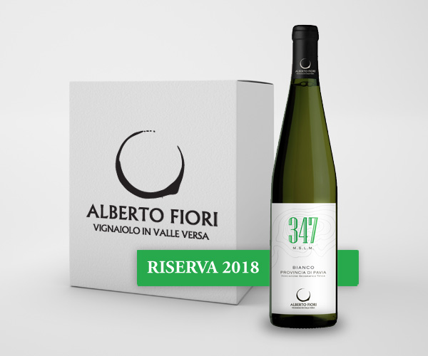 347 mslm Bianco Provincia di Pavia IGT Riserva 2018 - Confezione da 6