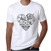 t shirt coeur campagnolo velo vintage