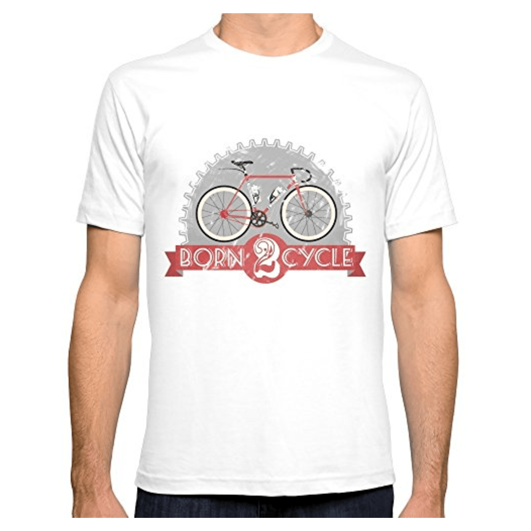T shirt born 2 cycle shop vint 39 age of bikes for Bike and cycle shoppe shirt