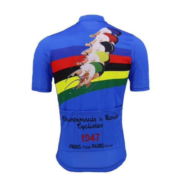 maillot vélo cyclisme vintage retro bleu champion monde