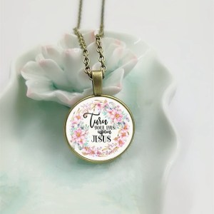 turn your eyes upon jesus bible verse necklace