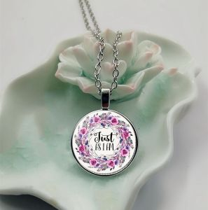 Just as I am bible verse necklace