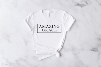 amazing grace shirt white cute christian tshirt