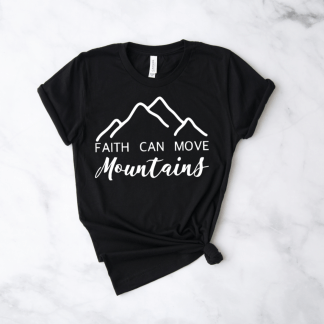faith can move mountains cute womens tshirts