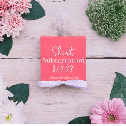 womens christian tshirt subscription package