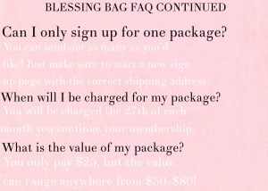 blessing bag faq