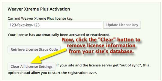 clear-license-settings