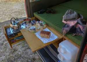 CampingAusbau Sitzen, Kochen, Schlafen
