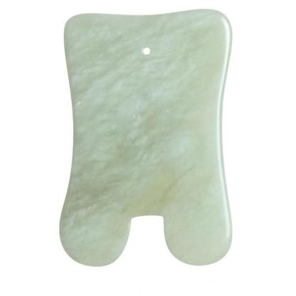Nefriidist ehk jade kivist Gua Sha kaabits. Massaažitoode. Wellness toode. Tervisetooted