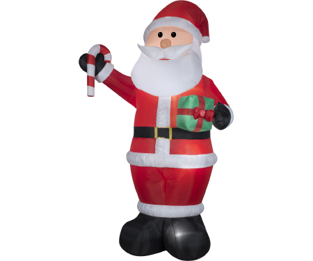 Santa With Gift Gemmy Giant Airblown Inflatable 12 Ft Tall
