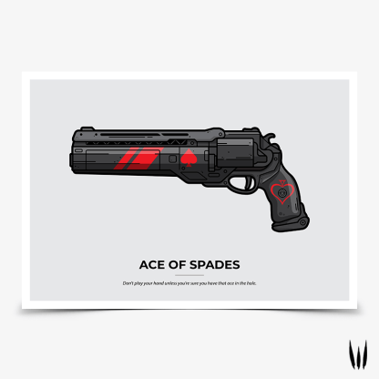 Destiny 2 Ace of Spades Last Hand hand cannon gaming poster designed by WildeThang