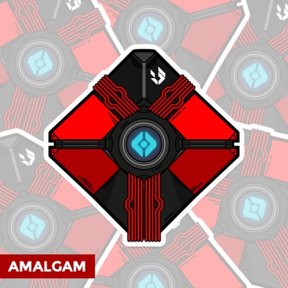 Destiny Amalgam ghost shell sticker by WildeThang