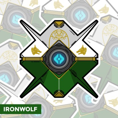 Destiny Ironwolf ghost shell sticker by WildeThang