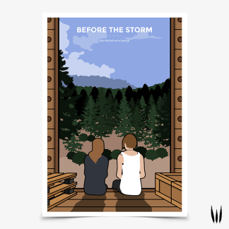 Life is Strange Before the Storm train scene with Rachel and Chloe poster designed by WildeThang