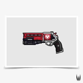 Destiny 2 Not Forgotten hand cannon gaming poster designed by WildeThang