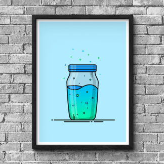Fortnite Slurp Juice gaming poster designed by WildeThang