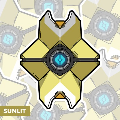 Destiny Sunlit ghost shell sticker by WildeThang