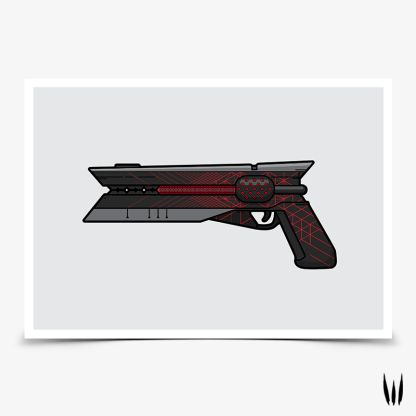 Destiny 2 Sunshot Red Dwarf hand cannon gaming poster designed by WildeThang
