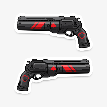 Destiny Ace of Spades Last Hand vinyl die-cut gaming weapon sticker by WildeThang