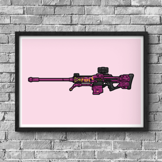 Her Benevolence Sniper Rifle Destiny gaming poster by WildeThang