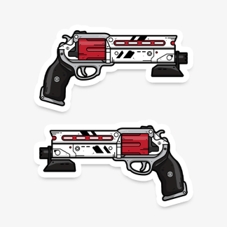 Destiny Luna's Howl vinyl die-cut gaming weapon sticker by WildeThang