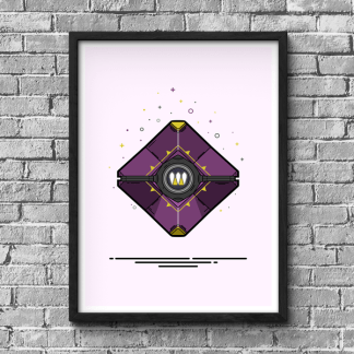 Destiny Queen's Wrath ghost shell gaming poster design by WildeThang