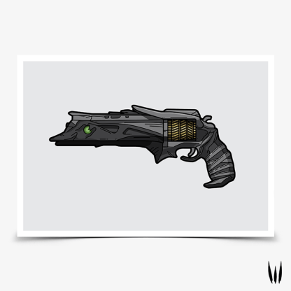 Destiny 2 Thorn Hand Cannon gaming poster designed by WildeThang