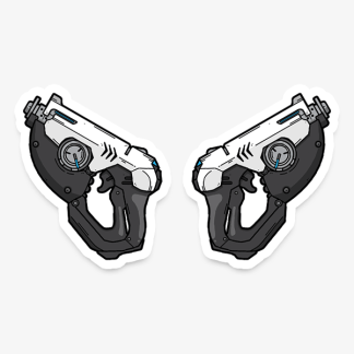 Overwatch Tracer's Gun Weapon gaming sticker by WildeThang