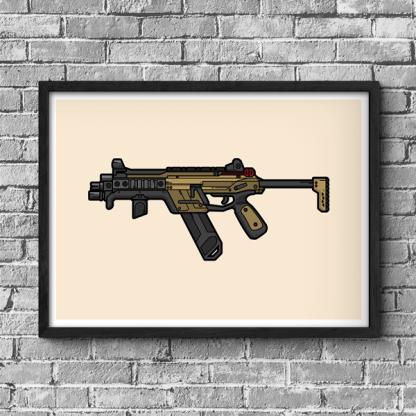 R-99 Sub Machine Gun Apex Legends Gaming Poster
