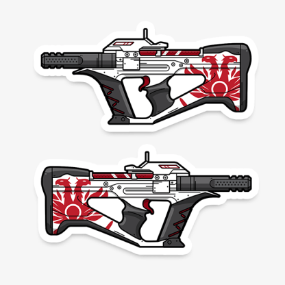 Destiny 2 The Recluse Sub Machine Gun Gaming Vinyl Sticker designed by WildeThang