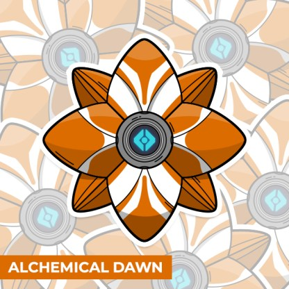 Destiny 2 Alchemical Dawn ghost shell vinyl sticker designed by WildeThang