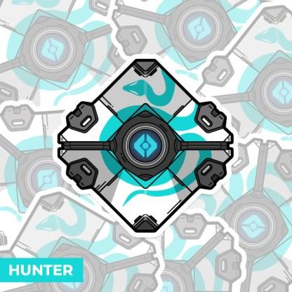 Destiny 2 Hunter ghost shell vinyl sticker designed by WildeThang