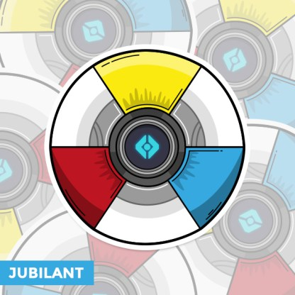 Destiny 2 Jubilant ghost shell vinyl sticker designed by WildeThang